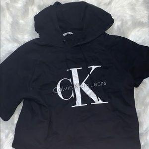 Authentic size medium black hoodieclavin klein